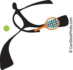 Shadow man tennis cartoon cartoon design sport symbol.