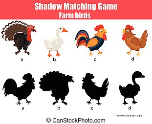 Shadow matching children educational game. Find the right...