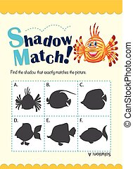Shadow matching game with fish