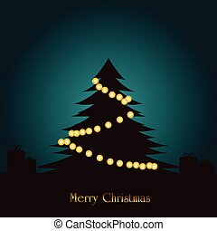 Shadow Of Christmas Tree With lighting Decoration