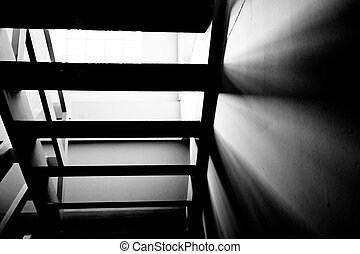 Shadow of the stairs