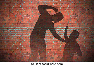 Shadow Of Two Men Fighting