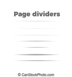 shadow page dividers set