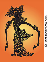 Traditional Asian shadow puppet.