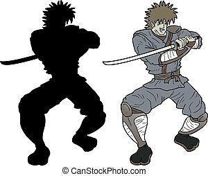 Shadow samurai - Creative design of shadow samurai