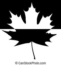 Shadowed Maple Leaf Silhouette