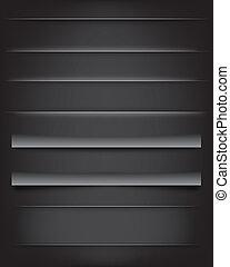Shadows and Dividers - Shadows and dividers on dark ...