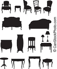 Shadows furniture - Shadows of furniture in the house