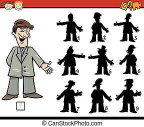shadows, játék, oktatás, karikatúra
