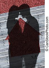 shadows, közül, összekapcsol átölel