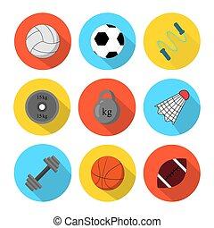 shadows, lakás, labda, klub, állóképesség, sport, ikon