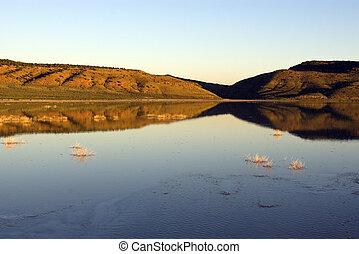 Shadows on Desert Lake