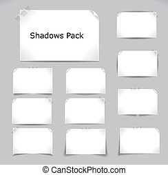 Shadows pack - Set of different complex shadows. Vector...
