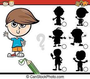 shadows task cartoon for children - Cartoon Illustration of ...