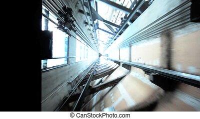 shaft elevator of Auckland sky towr - The shaft elevator of...