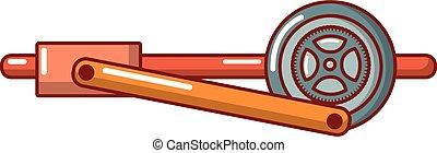 Shaft icon, cartoon style.