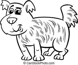 shaggy dog cartoon coloring page