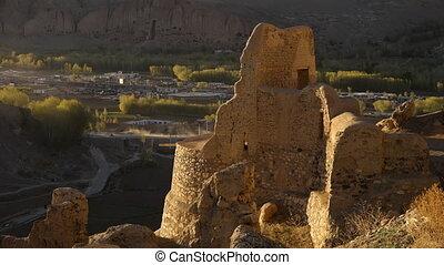 Shahr-e Zuhak, Zuhak City. Ancient desert ruin on hill with...