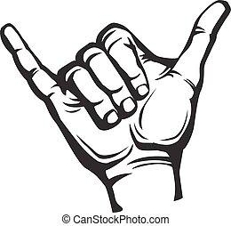 shaka, signe main