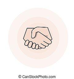 Shake a hand Illustration