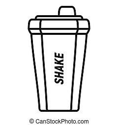 Shake bottle icon, outline style