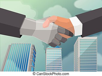 Shake Hand Business Partner City
