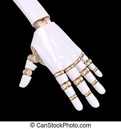 Shake hand of robot