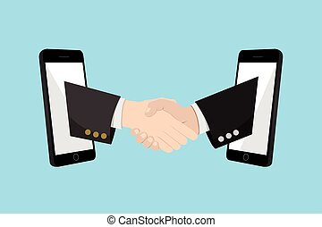 Shake Hand Online Partnership