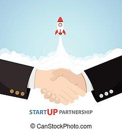 Shake Hand Startup Partnership