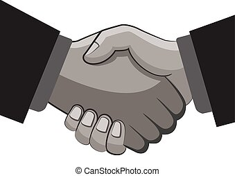 shake hands business connection concept