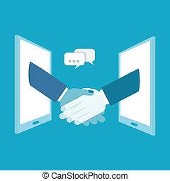 Shake hands business