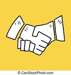 Shake hands doodle