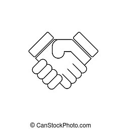 shake hands handshake - vector icon