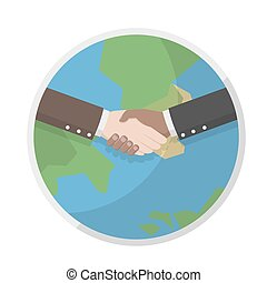 shake hands on the earth for cooper