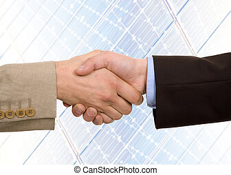 shake - Business team hand shake at the office