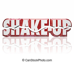 Shake-Up 3d Words Disrupt Change Innovate Improve