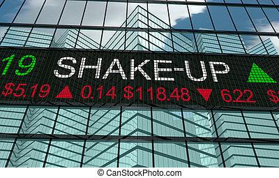 Shake-Up Stock Market Disruption New Change Turmoil 3d Illustration