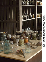 Shaker Preserves - A Close Up Of Jars Of Preserves And...