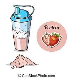 Shaker Strawberry Protein Powder