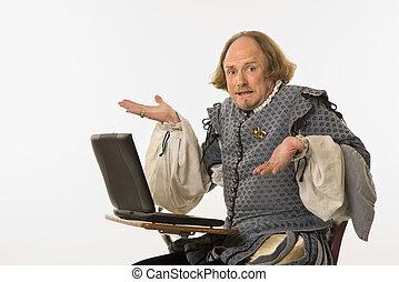 shakespeare, computer.