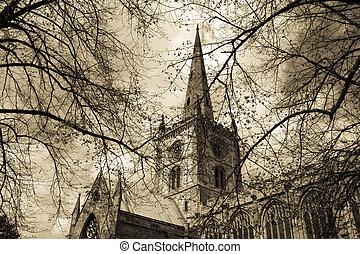 Shakespeare's church - Church of the Holy Trinity, Stratford...