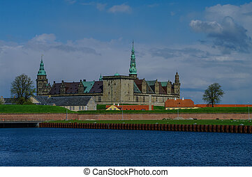 shakespeare's, hamlet., dänemark, daheim, hofburg, kronborg