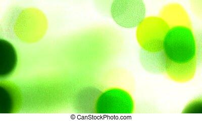 Shaking green circle lighting