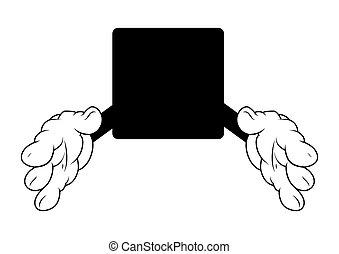 Shaking Hands Cartoon Vector Banner