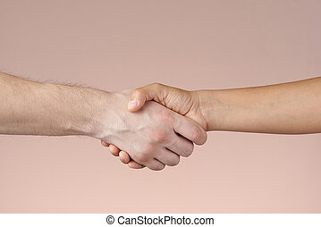 Shaking hands Isolated