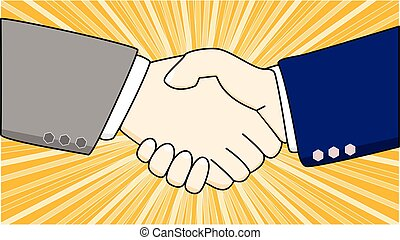 Shaking hands of two businessmen