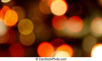 Shaking lighting at night,many cars