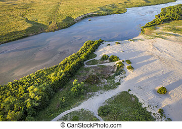 Dismal River flowing through Nebraska Sandhills