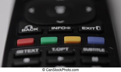 TV remote controller - Shallow depth of field tracking of a...
