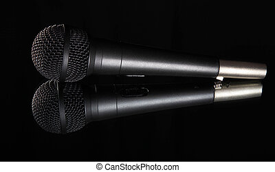 shallow depth of field view of a microphone